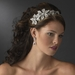 Immaculate Antique Silver Side Accented Flower Headpiece 9945