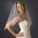 Bridal Wedding Double Layer Elbow Length Scalloped Edge w/ Pearls & Beads Veil 138