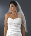 Bridal Wedding Double Layer Elbow Length Veil 139 w/ Crystals
