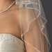 Exquisite Elbow Length Bridal Veil with Sequence & Bugle Beaded Edge in White or Ivory V 643