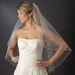 Bridal Wedding Double Layer Fingertip Length, Crystal Accents Veil 2103