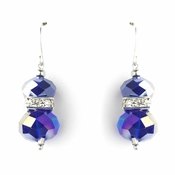 * Purple AB Silver Clear Earring Set 7618 ***Discontinued  2 Left ***