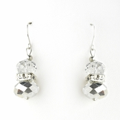 * Silver Clear Silver Earring Set 7618
