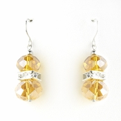* Topaz Silver Clear Earring Set 7618