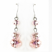 * Pink Dangle Earring Set 7619