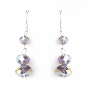 * Purple AB Dangle Earring Set 7619