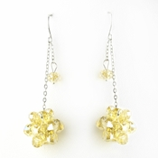 * Yellow Cluster Dangle Earring Set 7620