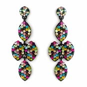 * Rainbow Mix on Black Earring Set 8541