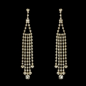 * Earring 20426 Gold Clear
