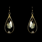 * Earring 8132 Gold Light Brown