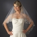 Bridal Wedding Double Layer Fingertip Length, Beaded & Embroidered Edge Veil 2943