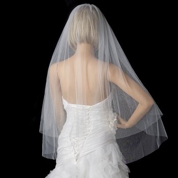 Bridal Wedding Double Layer Fingertip Length Veil VC F