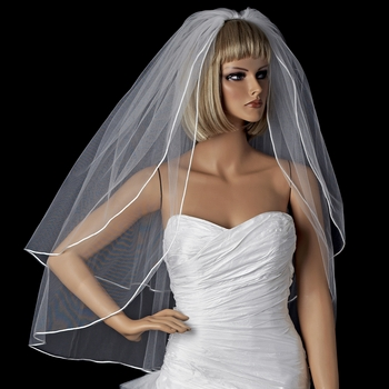 Bridal Wedding Double Layer Shoulder Length Veil VR F