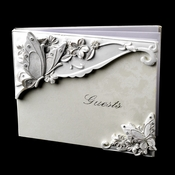 Floral Butterfly Wedding Guest Book