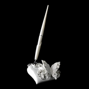 Floral Butterfly Themed Bridal Wedding Pen Set