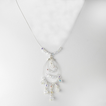 * Necklace 8153 Silver AB (1 Left)