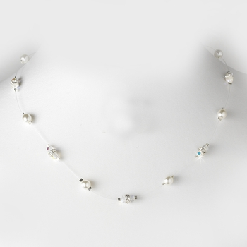 Necklace 8364-Silver-White