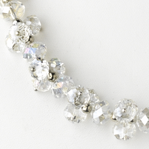 Clear AB Flower Necklace 7617 * 1 Left *