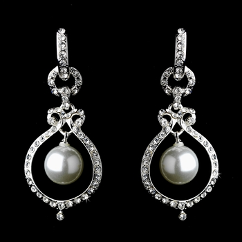 Silver Clear Earring Set 25356