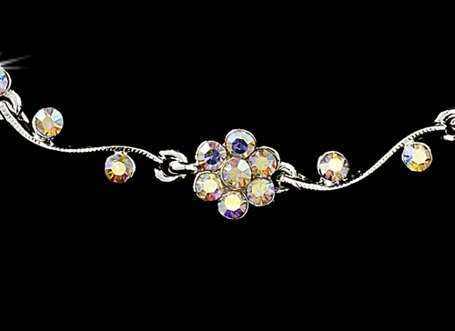 * Necklace Earring Bracelet Set 381 Silver AB