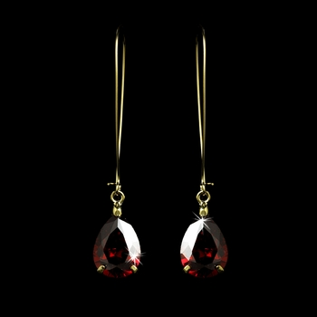 Earring 1030 Gold Red