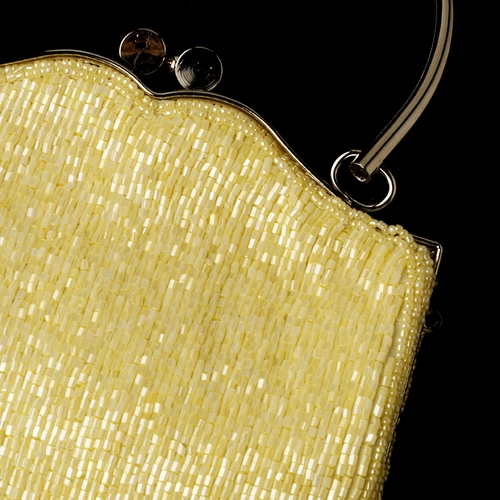 * Gorgeous Ivory Beaded Evening Bag 105