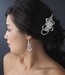 Elegant White Pearl & Crystal Chandelier Earrings E 958