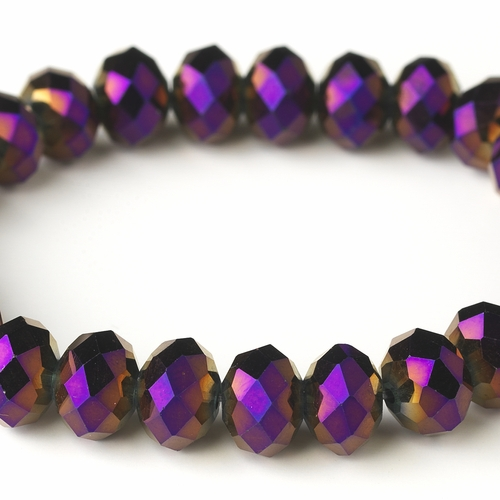 * Plum 10mm Stretch Bracelet 7613