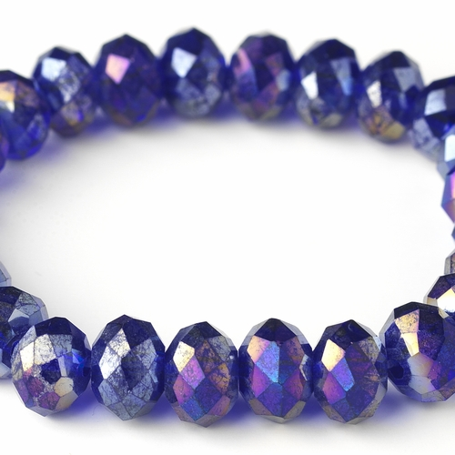 Violet 10mm Stretch Bracelet 7613