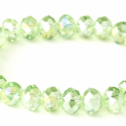 * Peridot 10mm Stretch Bracelet 7613