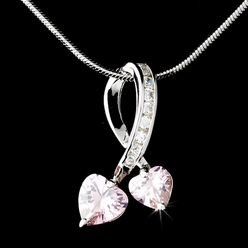 * Necklace 3714-Silver-Pink