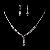 Silver Lilac Necklace Earring Set 9235 **Discontinued**