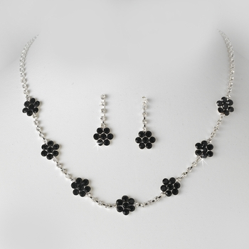 * Necklace Earring Set 70156 Silver Black