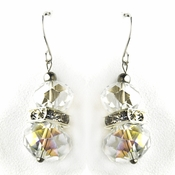* Clear Silver Clear Earring Set 7618