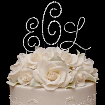 Renaissance ~ Monogram Wedding Cake Top Set
