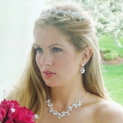 Elegant Crystal Jewelry Tiara Set NE 7035 & HP 7035