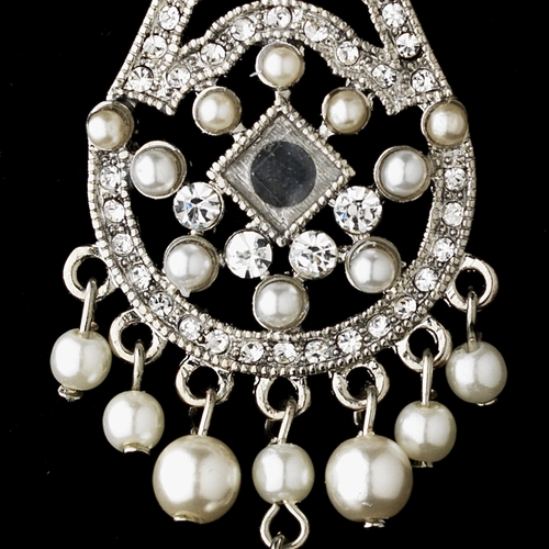 Vintage Chandelier Pearl Dangle Earrings E 957
