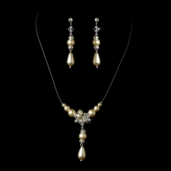Ivory Necklace Earring Set 7243