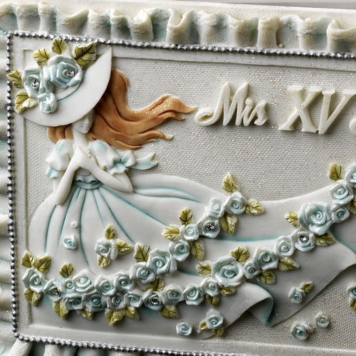Blue 'Sweet 15' Girl Guest Book
