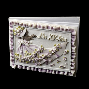 Purple 'Sweet 15' Girl Guest Book***Discontinued***