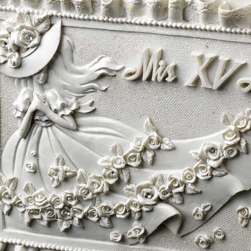 White 'Sweet 15' Girl Guest Book