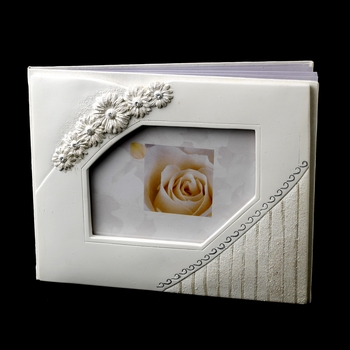 Large White Daisy Guest Book