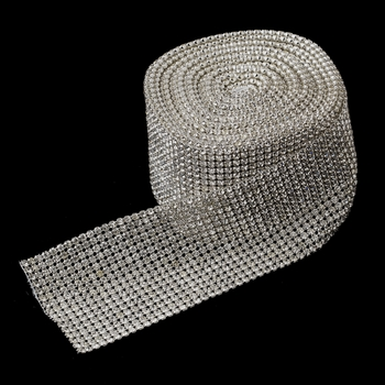 16 Row Rhinestone  Mesh Ribbon (5 Yards per roll)