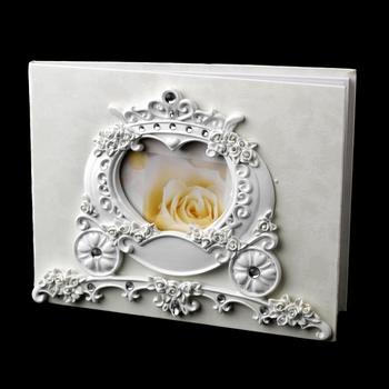 Wonderful Cinderella Coach Carriage Photo Guest Book 418