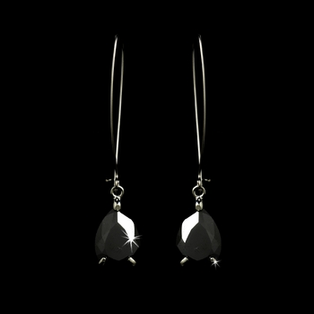 Earring 1030 Silver Black