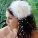 "* ""Sex in the City"" Style Feather Hat Comb 7798"