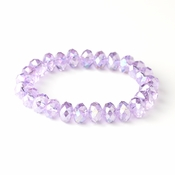 * Rose Pink 10mm Stretch Bracelet 7613