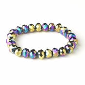 * Multi Color 10mm Stretch Bracelet 7613