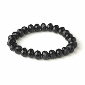 * Black 10mm Stretch Bracelet 7613