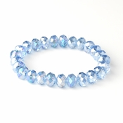 * Light Blue 10mm Stretch Bracelet 7613